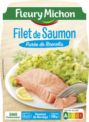 Filet de Saumon Purée de Brocolis - Produit - fr