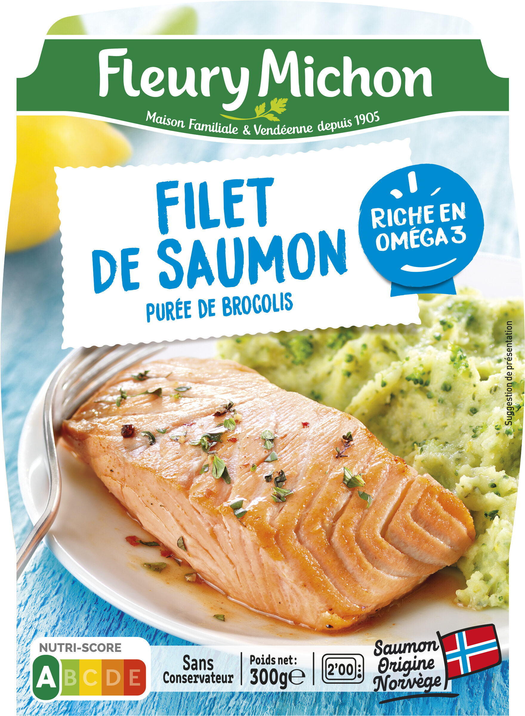 Filet de Saumon Purée de Brocolis - Prodotto - fr