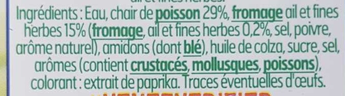 Le Cœur Frais Fromage Ail et Fines Herbes - Ingredients - fr