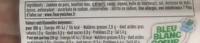 Le superieur nature - Ingredients