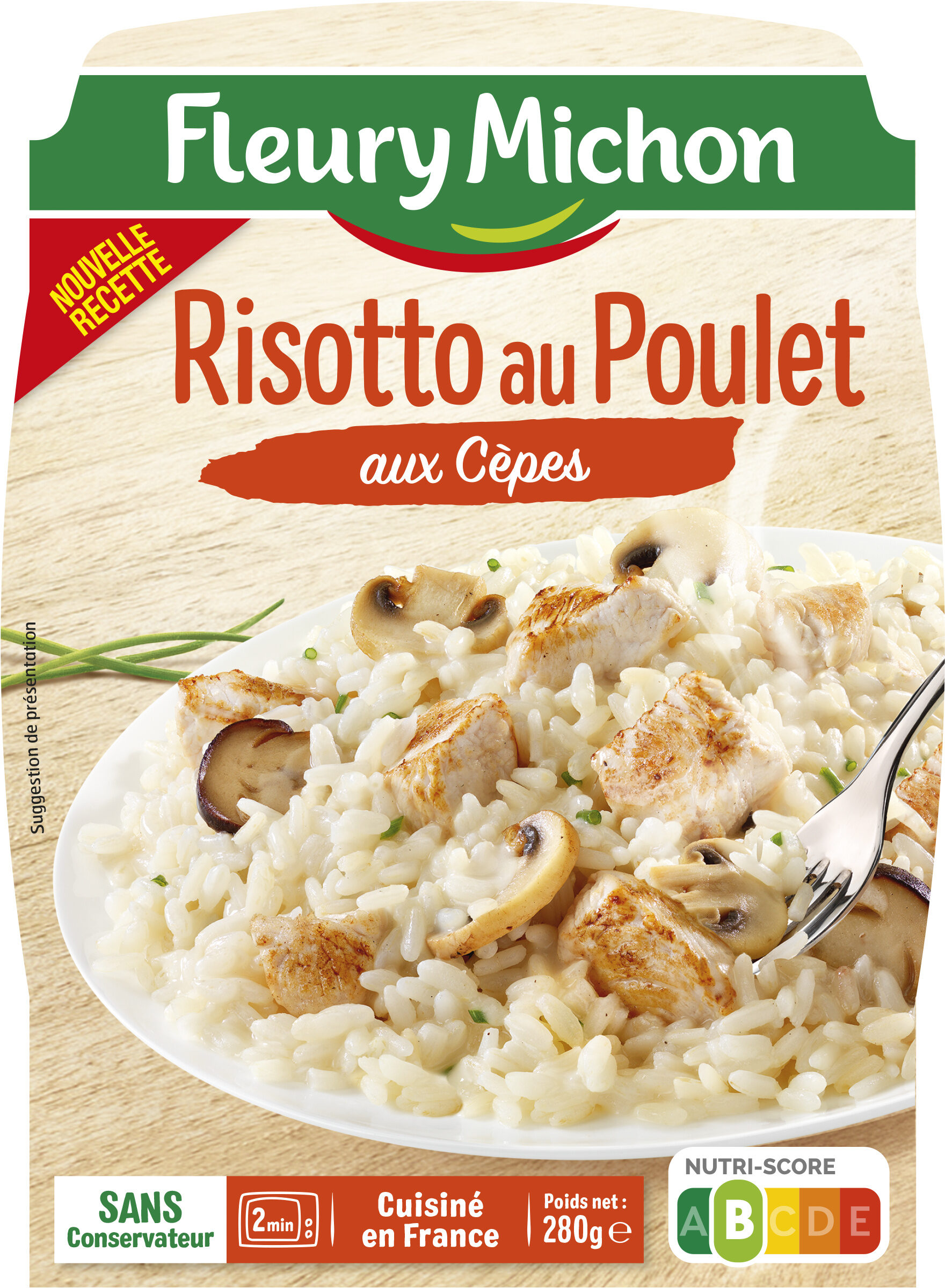 Risotto au Poulet aux Cèpes - Product - fr