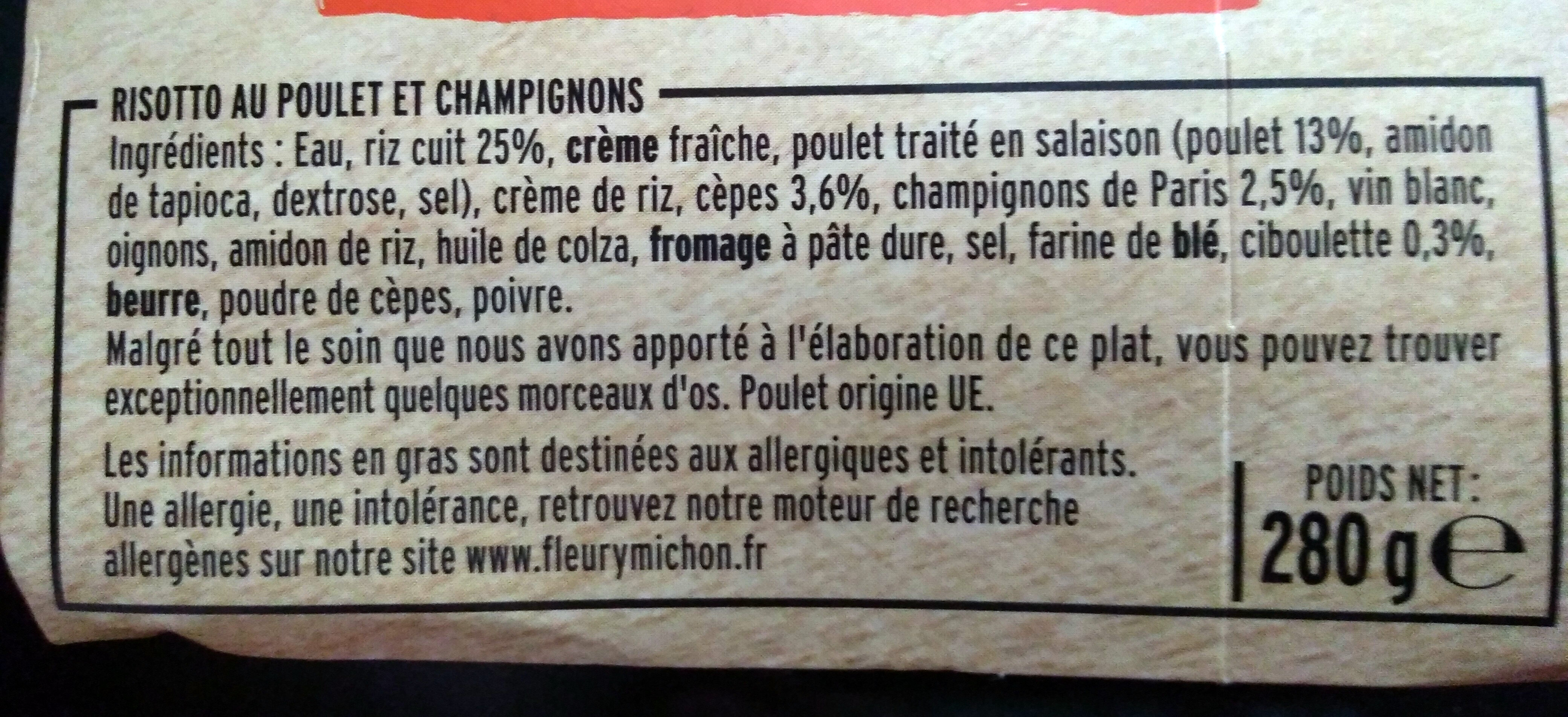 Risotto au Poulet aux Cèpes - Ingrediënten - fr