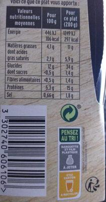 Risotto au Poulet aux Cèpes - Informations nutritionnelles