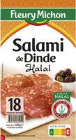 Salami de Dinde HALAL - 18 tranches environ - Produit - fr