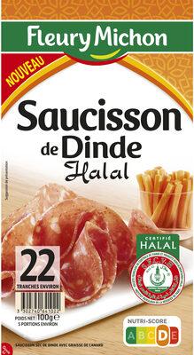 Saucisson de Dinde HALAL - 22 tranches environ - Product