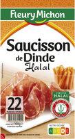 Saucisson de Dinde HALAL - 22 tranches environ - Product - fr