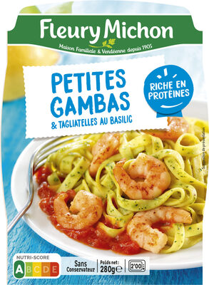 Petites Gambas & tagliatelles au basilic - Product - fr