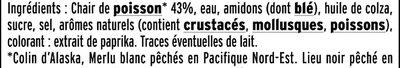 Le bâtonnet Moelleux - 12 bâtonnets - Ingredients - fr