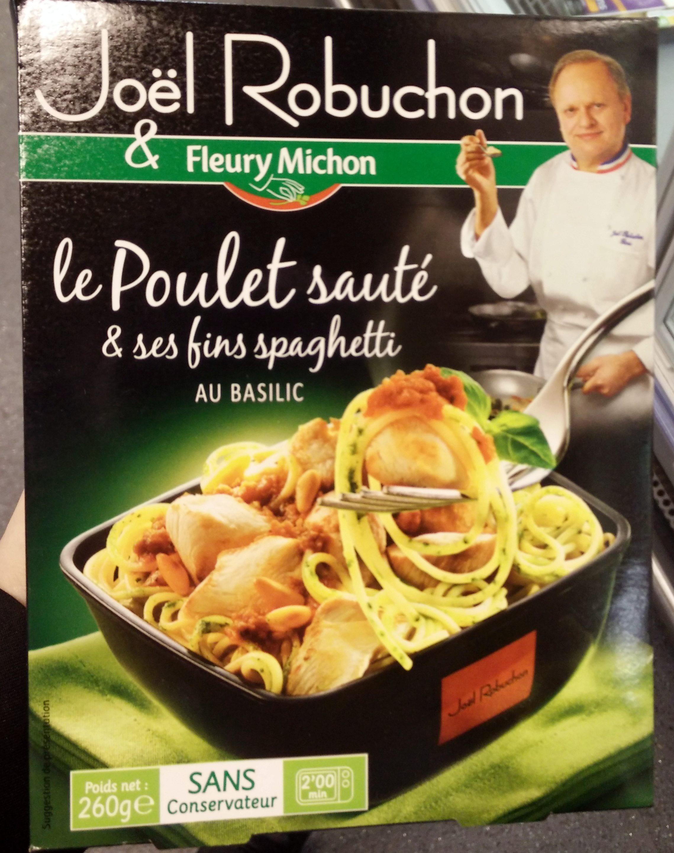 Poulet sauté & ses fins spaghetti au Basilic - Produit
