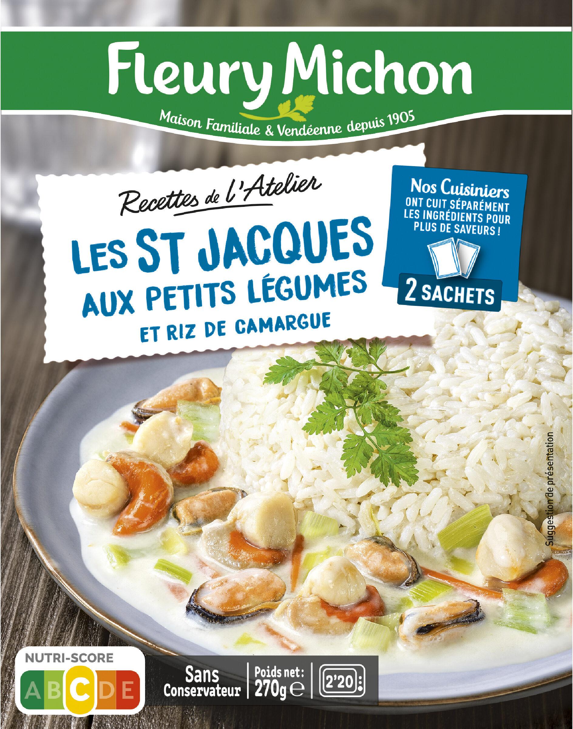 Les St-Jacques aux Petits Légumes et Riz de Camargue - Product - fr