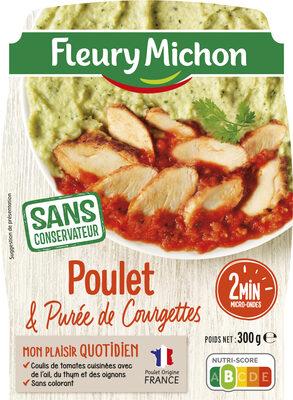 Poulet, Purée de Courgettes et concassé de tomates - Produit