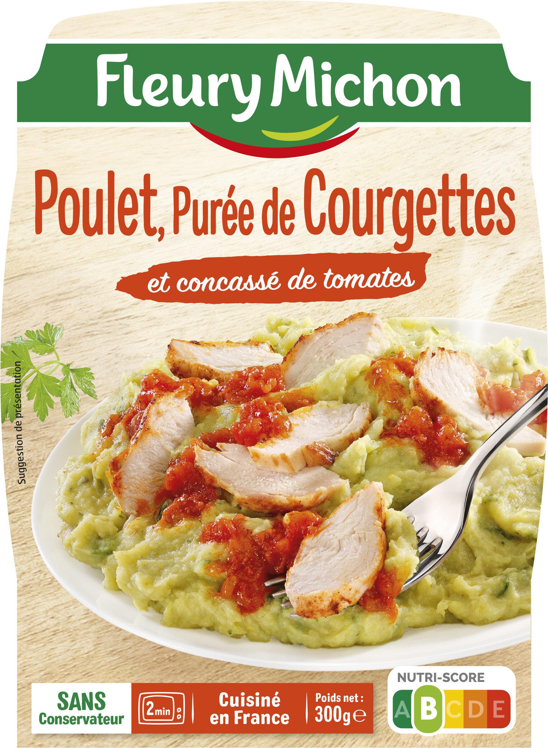 Poulet, Purée de Courgettes et concassé de tomates - Produit - fr