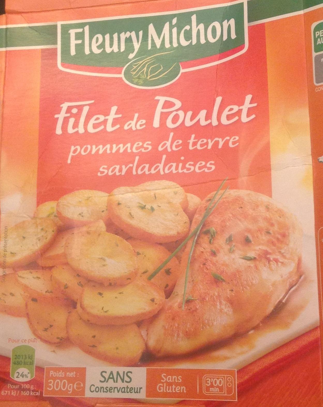 Filet de poulet et pommes de terre à la sarladaise - Product