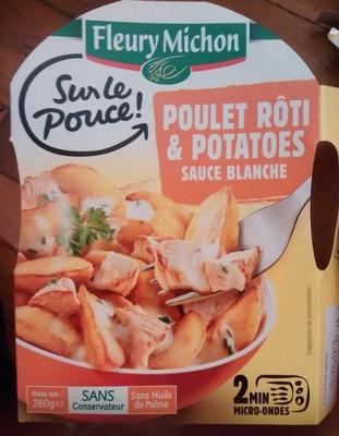 Poulet rôti & potatoes sauce blanche - Product