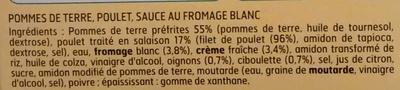 Poulet rôti & potatoes sauce blanche - Ingredients