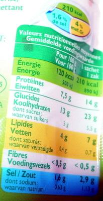 Miettes de Surimi Longues - Nutrition facts - fr