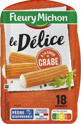 Délices de surimi à la chair de crabe - 18 bâtonnets - Produit - fr