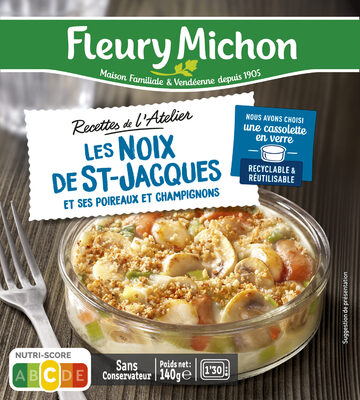 Les noix de ST-Jacques et ses poireaux et champignons - Produkt - fr