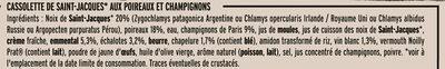 Cassolette St-Jacques Poireaux et Champignons - Ingredients