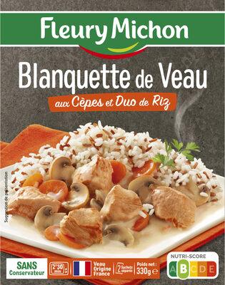 Blanquette de Veau aux Cèpes et Duo de Riz - Product