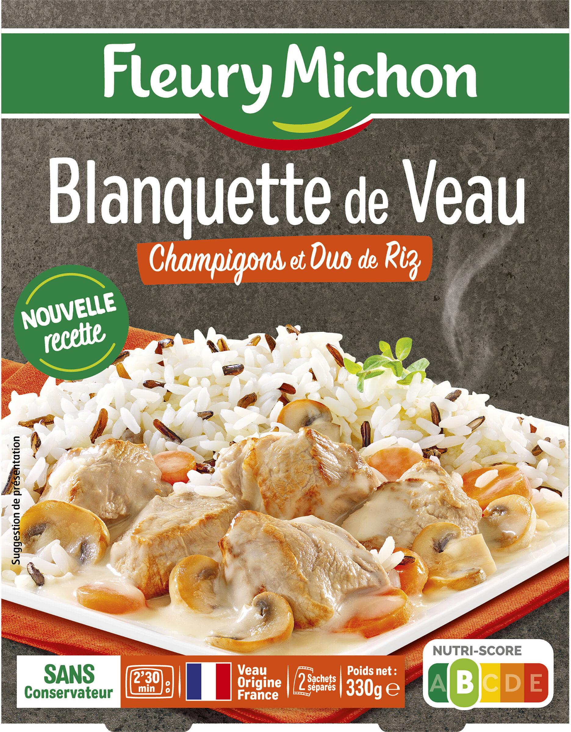 Blanquette de Veau Champignons et Duo de Riz - Produit - fr
