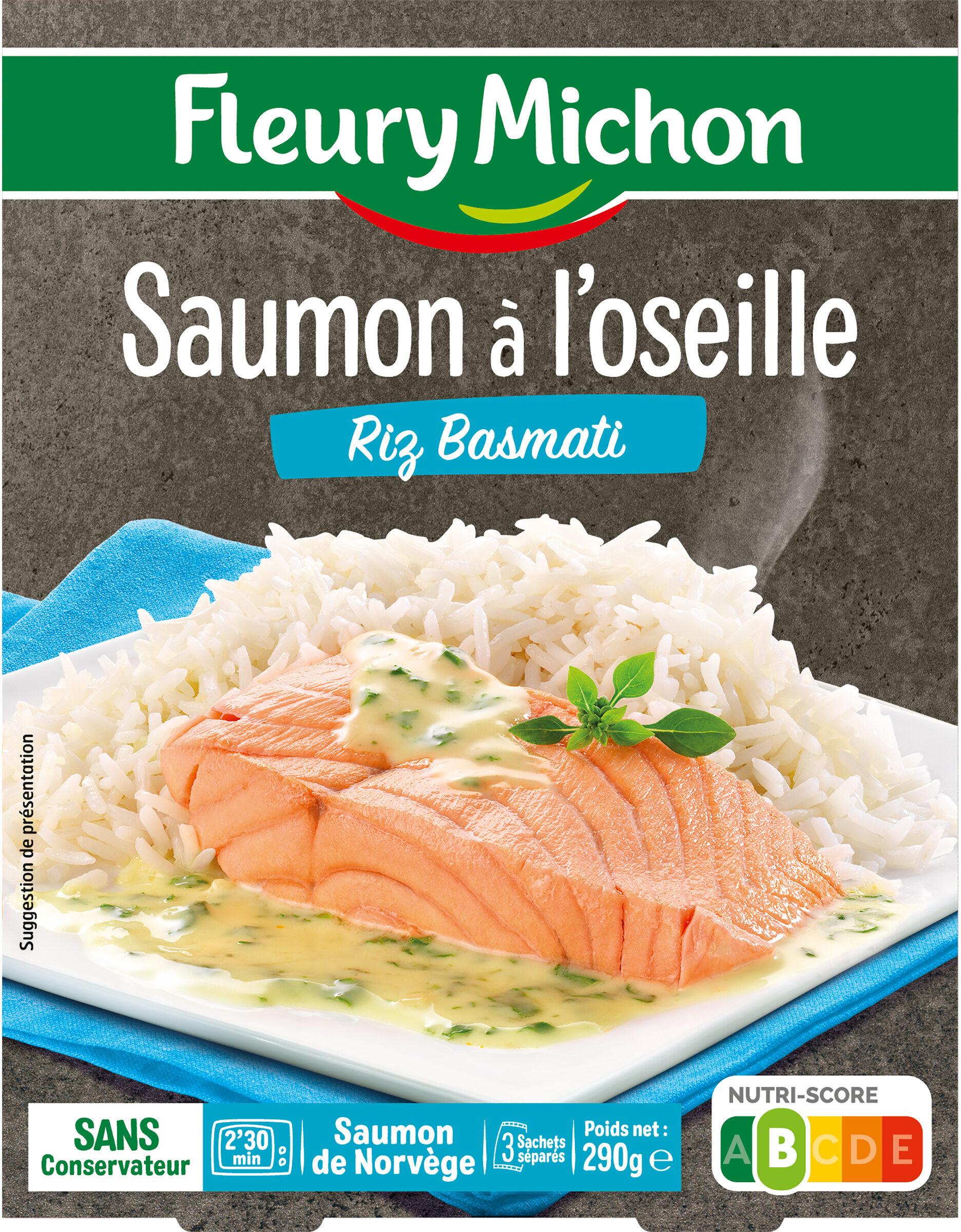 Saumon à l'oseille Riz Basmati - Produit - fr