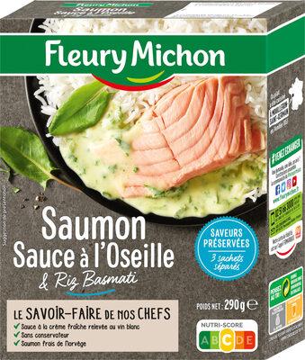 Saumon, sauce à l'oseille & riz basmati - Product