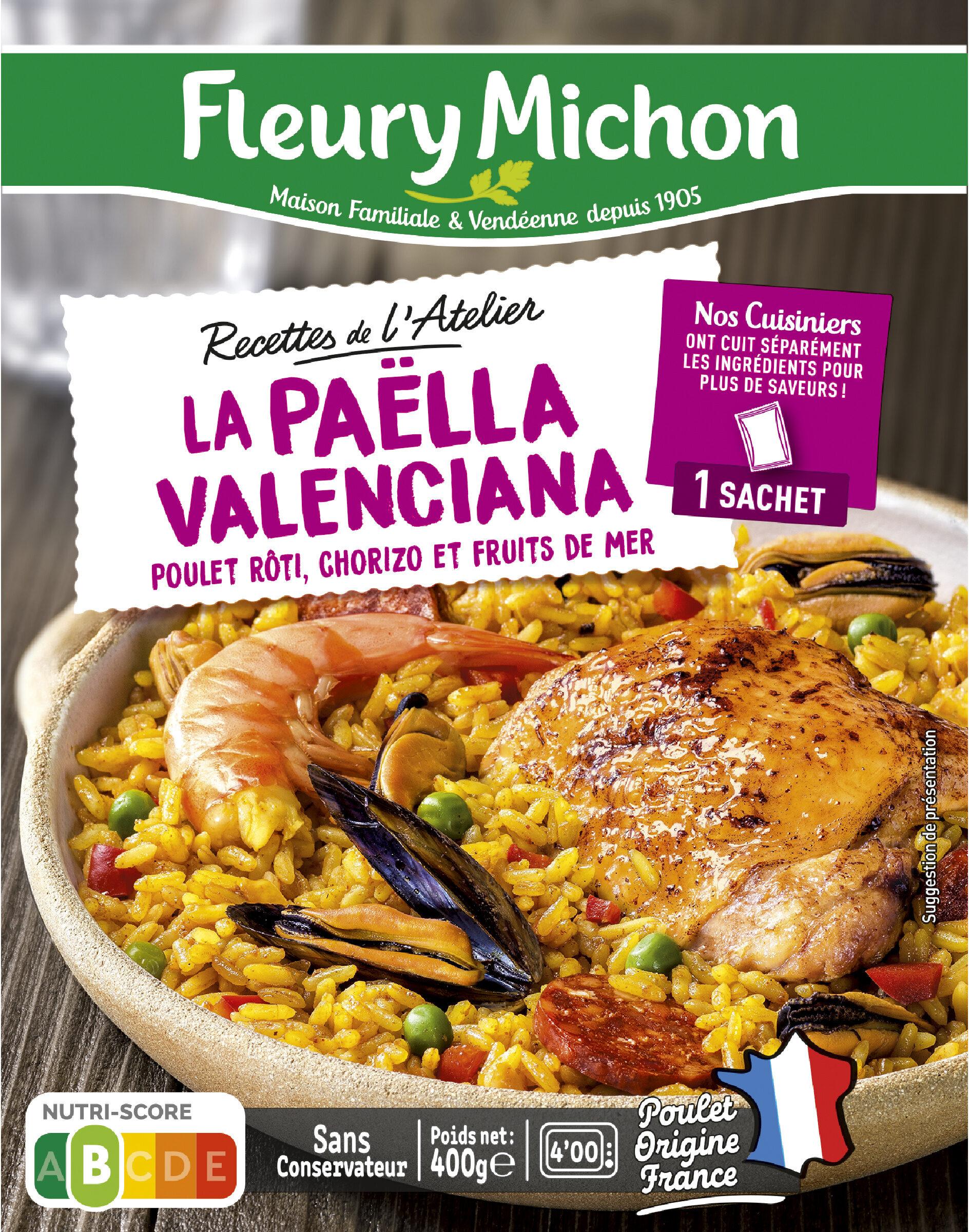 La Paëlla Valenciana, poulet rôti, chorizo et fruits de mer - Prodotto - fr