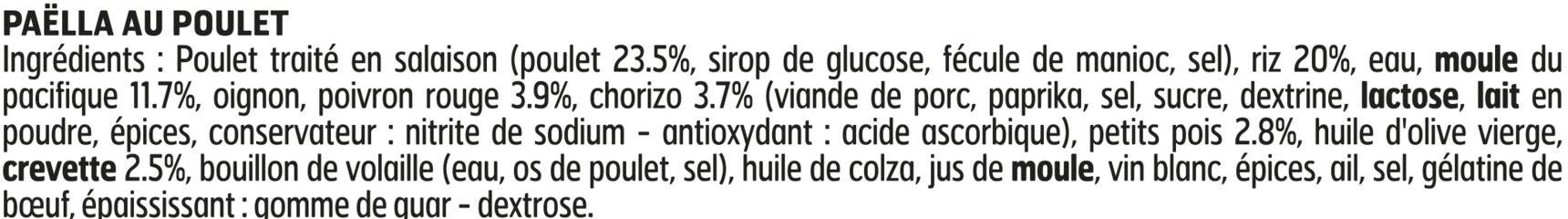 Paëlla Valenciana - Ingredients - fr