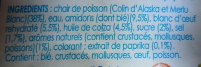 Le Bâtonnet Moelleux (18 Bâtonnets) - Ingrediënten - fr