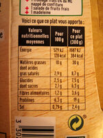 Moussaka Boeuf et Aubergines - Informations nutritionnelles - fr