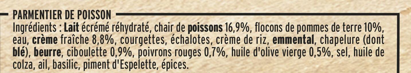 Parmentier de Poisson à la Ciboulette - Ingrédients - fr