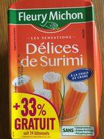 Délices de surimi à la chair de crabe - Prodotto - fr