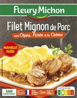 Filet mignon de porc aux cèpes, purée à la crème - Product - fr