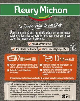 Le Filet Mignon de Porc et son écrasé de pommes de terre - Ingredienti - fr