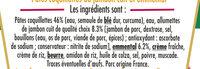 BOX JAMBON EMMENTAL (coquillettes jambon, emmental) - Ingrédients
