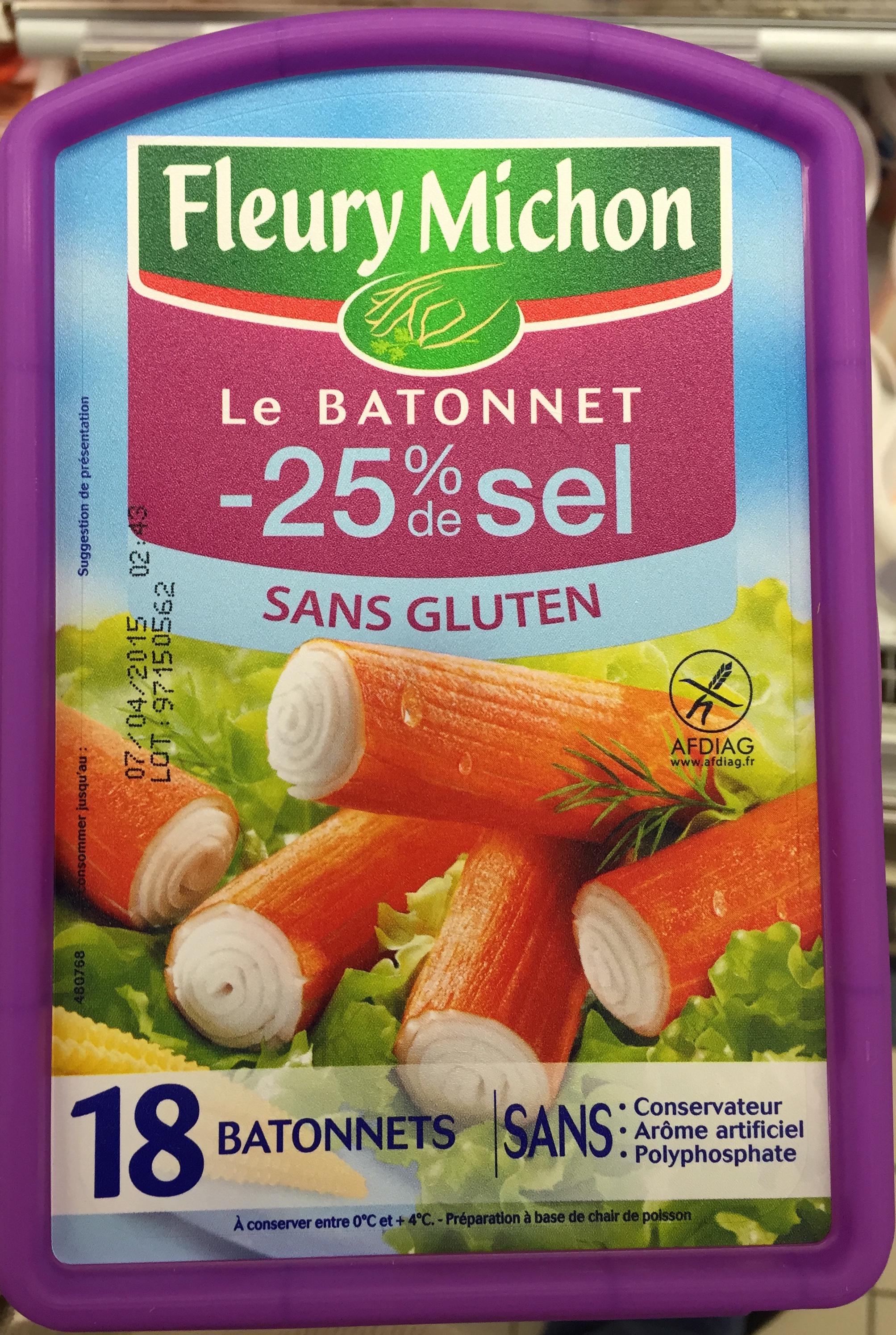 Le Bâtonnet (- 25 % de sel - Sans Gluten) 18 Bâtonnets - Produit - fr