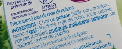 Le Bâtonnet (- 25 % de sel - Sans Gluten) 18 Bâtonnets - Ingrédients - fr