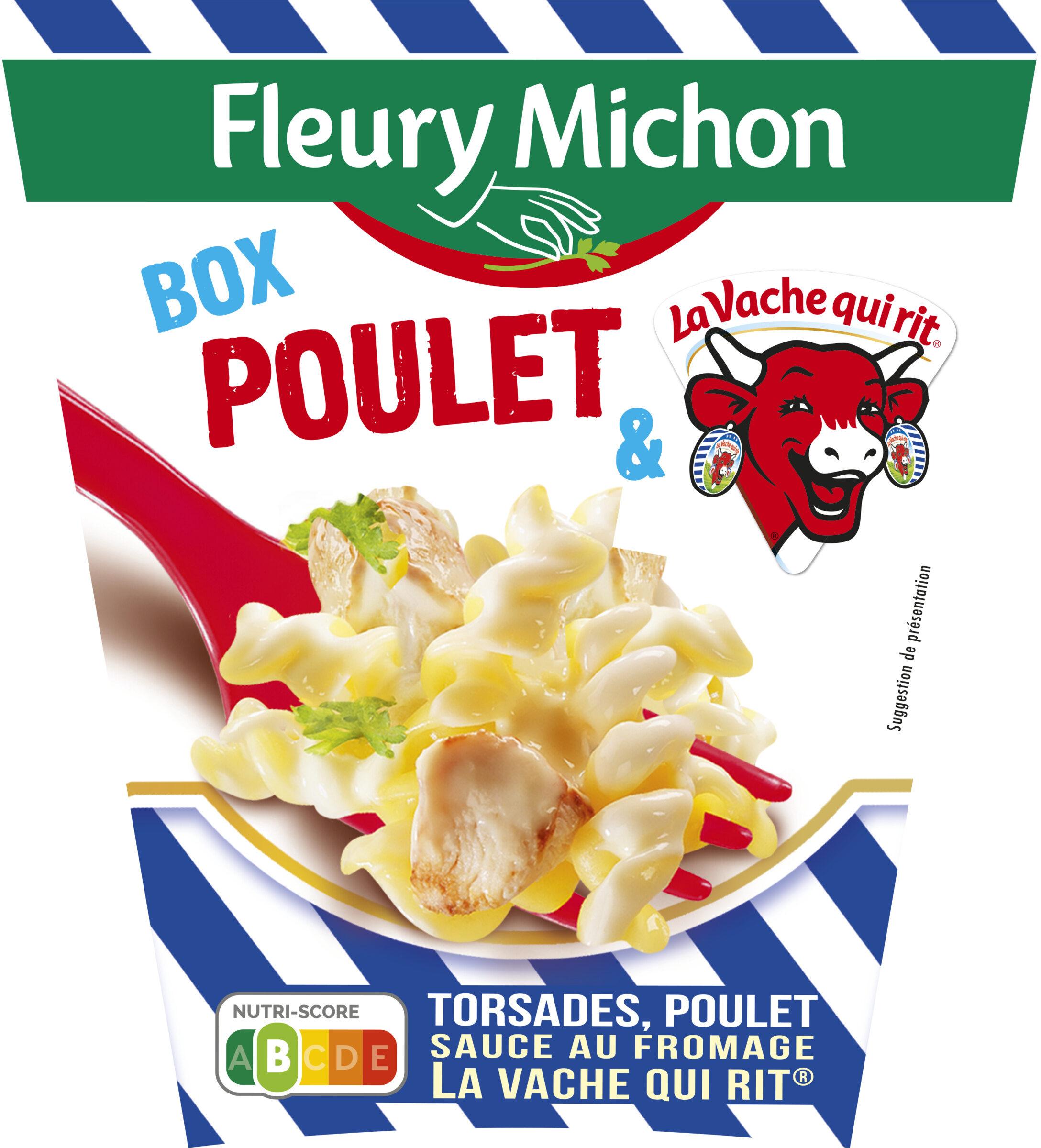 BOX POULET & LA VACHE QUI RIT® (torsades, poulet sauce au fromage la vache qui rit®) - Produit - fr