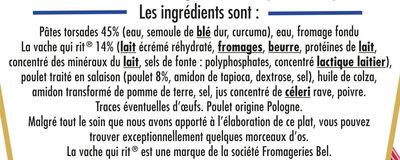 BOX POULET & LA VACHE QUI RIT® (torsades, poulet sauce au fromage la vache qui rit®) - Ingrédients - fr