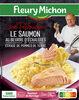Le saumon au beurre d'échalotes et écrasé de pommes de terre - Product