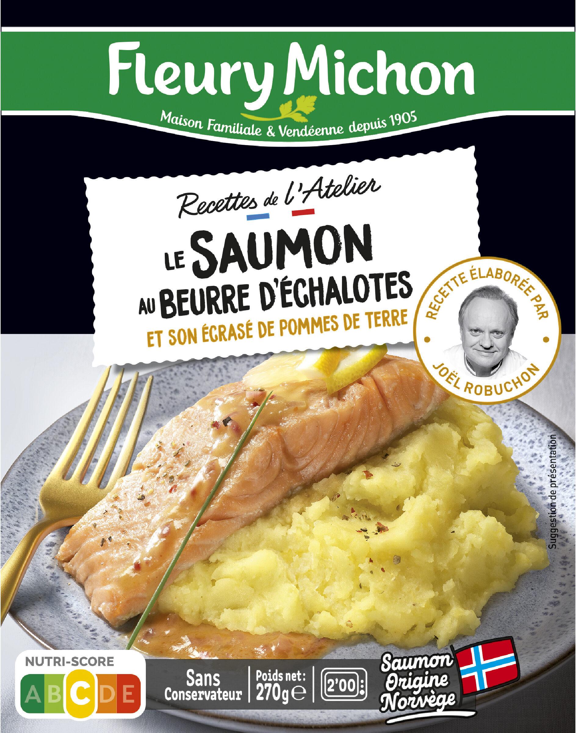 Le saumon au beurre d'échalotes et son écrasé de pommes de terre - Produkt - fr