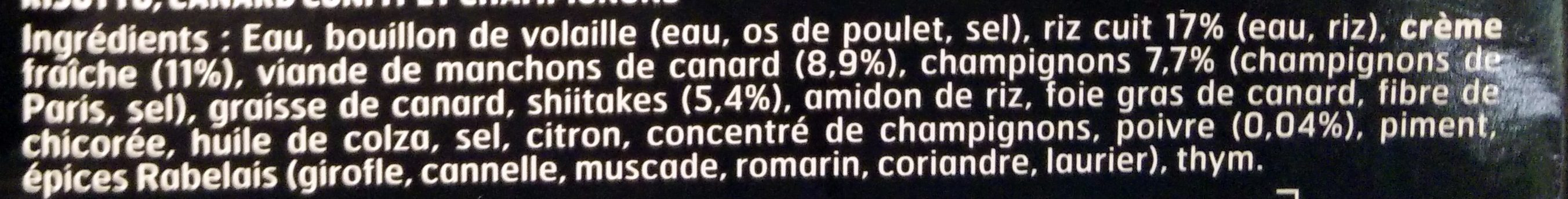 Jôel Robuchon Le Risotto aux champignons et canard confit - Ingrédients - fr