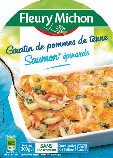 Gratin de pommes de terre saumon* épinards - Produit - fr