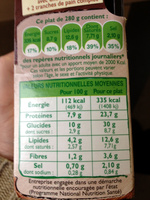 Gratin de pommes de terre saumon* épinards - Informations nutritionnelles - fr