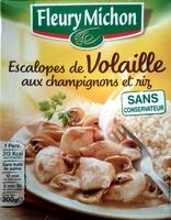 Escalopes de volaille aux champignons et riz - Product
