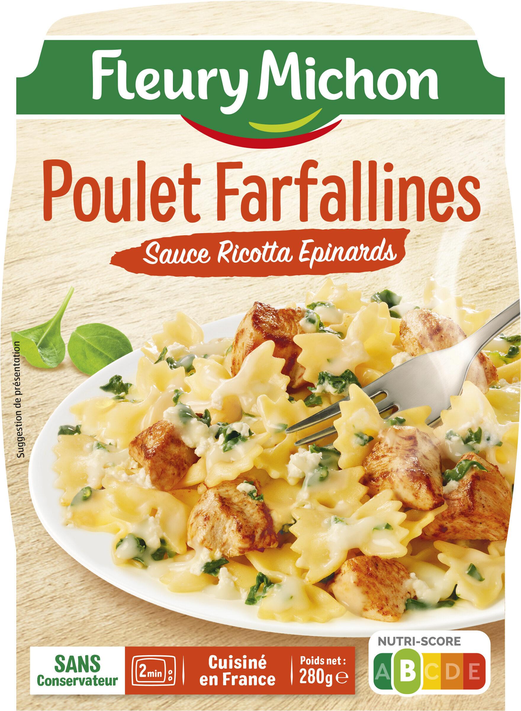 Poulet Farfallines Sauce Ricotta Epinards - Produit - fr
