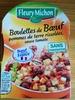 Boulettes de Bœuf pomme de terre rissolées, sauce tomate - Produit