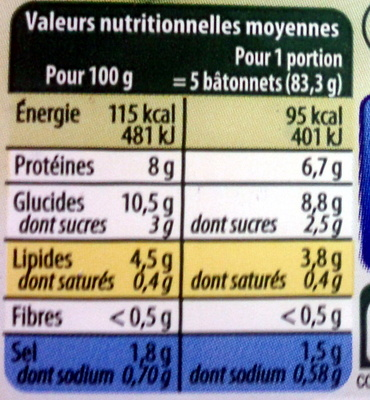 Le Bâtonnet Moelleux (+ 2 Bâtonnets Gratuits soit 32 bâtonnets) - Voedingswaarden - fr