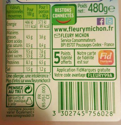 Le Bâtonnet Moelleux (30 Bâtonnets) - Informations nutritionnelles